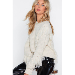 Tassel At Hand Lace-Up Sweater