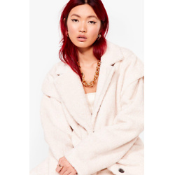 Faux Fur What It's Worth Longline Coat