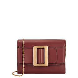 BOYY Buckle burgundy leather clutch