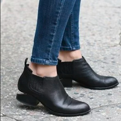 Alexander Wang Kori Rhodium & Leather Chelsea Boots