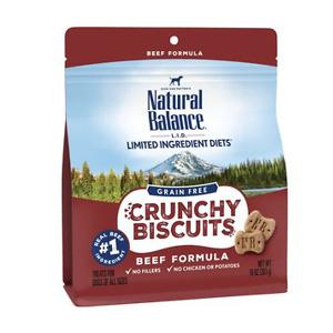 Natural Balance L.I.D. Limited Ingredient Diets Crunchy Biscuits Beef Formula Grain-Free Dog Treats