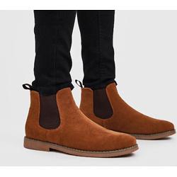 仿反绒皮踝靴