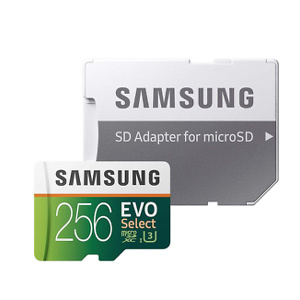 Samsung Electronics EVO Select 256GB microSDXC UHS-I U3 100MB/s Full HD & 4K UHD Memory Card