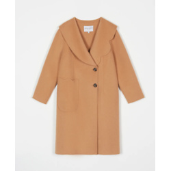 rachel wool coat - camel