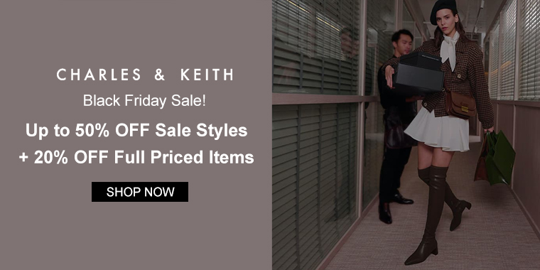 CHARLES & KEITH US: Up to 50% OFF Sale Styles + 20% OFF Full Priced Items