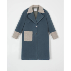 hailey wool coat - nightime blue