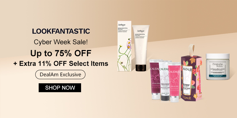 Cyber Week Sale! lookfantastic US: Up to 75% OFF + Extra 11% OFF Select Items (DealAm Exclusive)