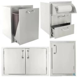 BBQGuys Signature Series 4-Piece Outdoor Kitchen Storage Package