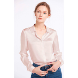 Basic Concealed Placket Silk Shirt