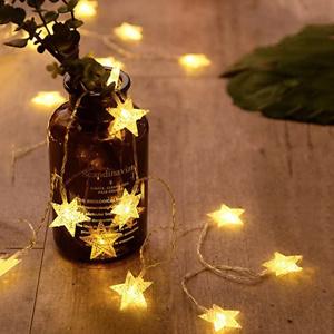 ANJAYLIA 20 LED Star String Lights 10 FT Fairy Christmas Lights
