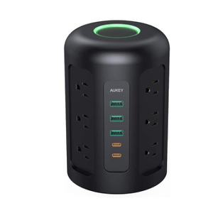 AUKEY Power Strip Tower, Surge Protector with 2 USB C Ports