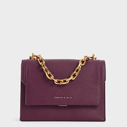 Chain Handle Evening Bag