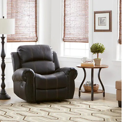 Charlie PU Leather Glider Recliner Club Chair