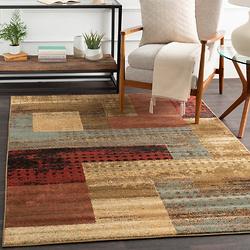 格子图案地毯