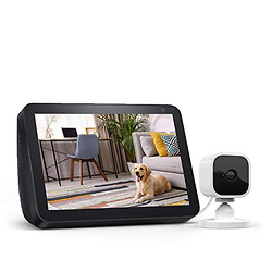 Echo Show 8 Charcoal with Blink Mini Indoor Smart Security Camera