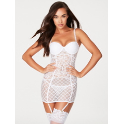 Holly Michelle Mesh And Lace Chemise