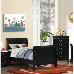 Copper Grove Carlson Black Sleigh Bed