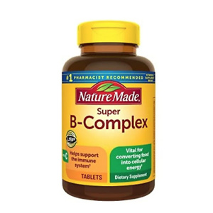 Nature Made Super B-Complex Tablets, 60 Count for Metabolic Health