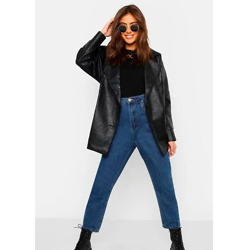 Belted Wrap Faux Leather Jacket