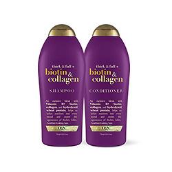 OGX Thick & Full Biotin & Collagen 维生素 胶原蛋白 洗发水 +护发 套装