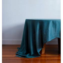100% Linen Tablecloth in Petrol