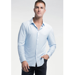 MOTIVE DRESS SHIRT IN BLUE