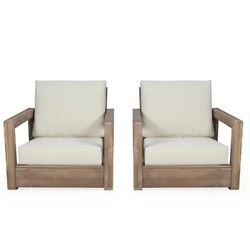 Westchester Acacia Wood Club Chairs
