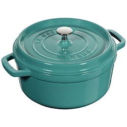 4夸脱珐琅铸铁圆形绿色炖锅