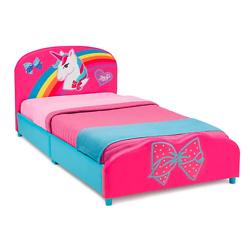 独角兽印花软垫儿童双人床