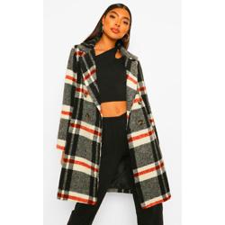 Tall Check Wool Look Coat