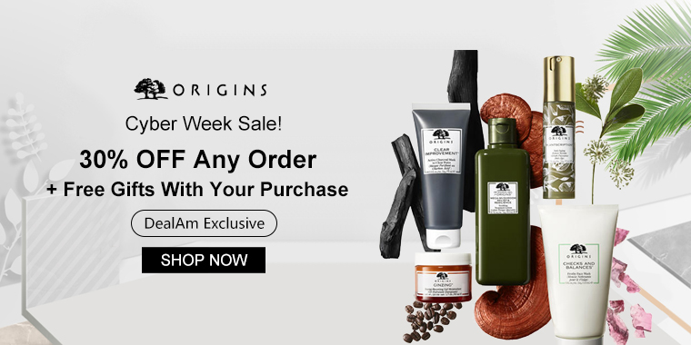 Cyber Week Sale! Origins: 30% OFF Any Order + Free Gifts With Your Purchase (DealAm Exclusive)