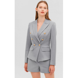 Classic Double Breasted Slim Blazer