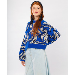 Banana Flowers Embroidered Sweater