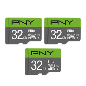 PNY 32GB Elite Class 10 U1 MicroSDHC Flash Memory Card