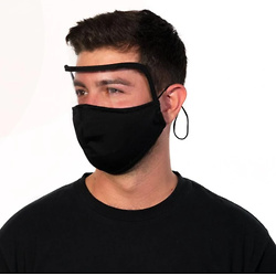 Adult Reusable One-Piece Shield Mask