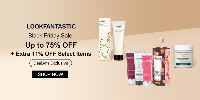 lookfantastic US: Up to 75% OFF + Extra 11% OFF Select Items (DealAm Exclusive)