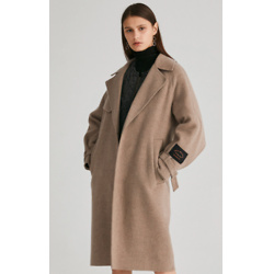 BASIC HOUSE & Wool Handmade Belted Long Coat