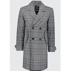 双排扣羊毛混纺大衣