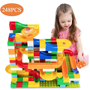 Temi 248 PCS Marble Run Deluxe Sets for Kids