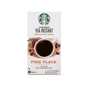 Starbucks VIA Instant Pike Place Roast Medium Roast Coffee, 8 Count