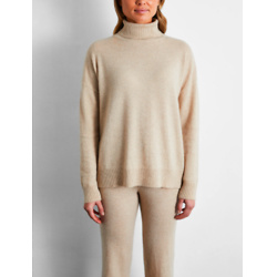 100% Cashmere Sweater in Oatmeal