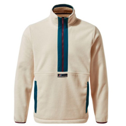 Unisex Ashfield Half-Zip Fleece - Ecru