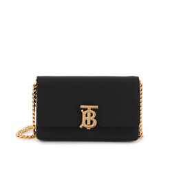 BURBERRY Small Grainy Leather Shoulder Bag