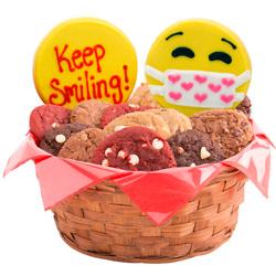 Keep Smiling Emojis Cookie Basket
