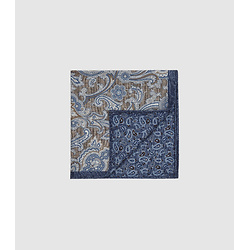 SILK DOUBLE SIDED POCKET SQUARE