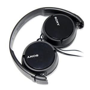 Sony MDRZX110/BLK Black 3.5mm Jack Wired On-Ear Headphones
