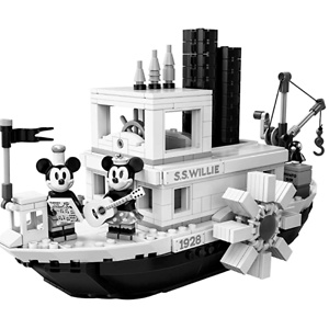 LEGO Ideas 21317 Disney Steamboat Willie Building Kit