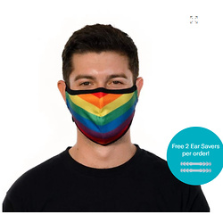 Boomer Rainbow Nano-Silver Reusable Protective Face Mask for Adults