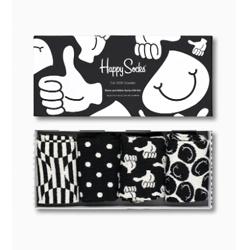 Black and White Socks Gift Box 4-Pack