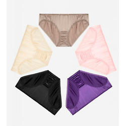 Classic Silk Panty with Floral Hemming